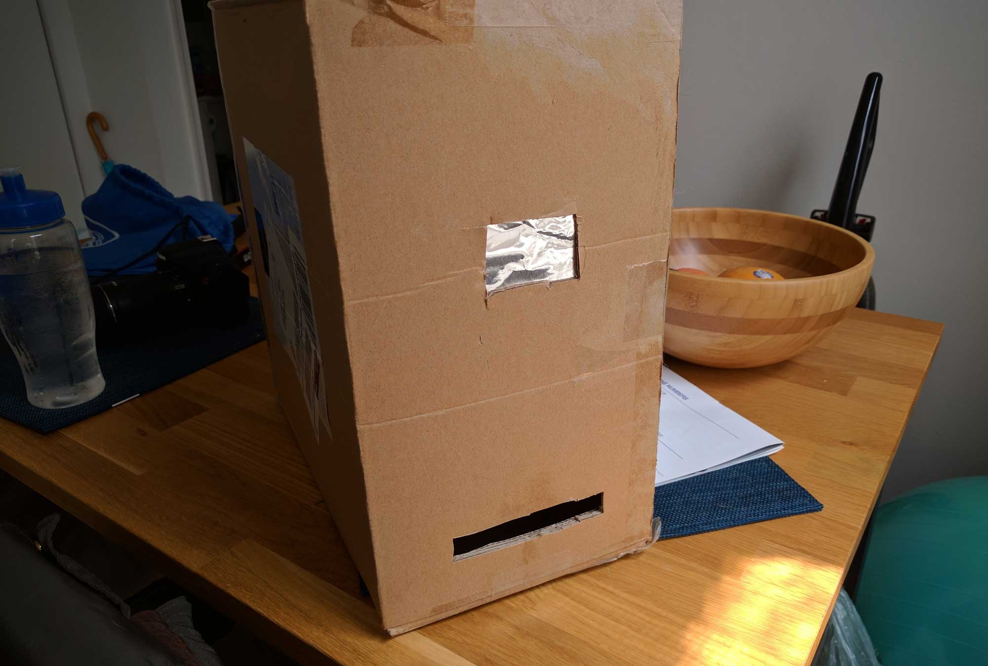 Nick Clyde's pinhole camera box