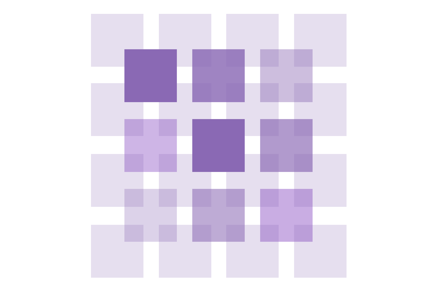 An abstract image showing a grid of squares, with a second grid on top, to representing building and scaling a sytem
