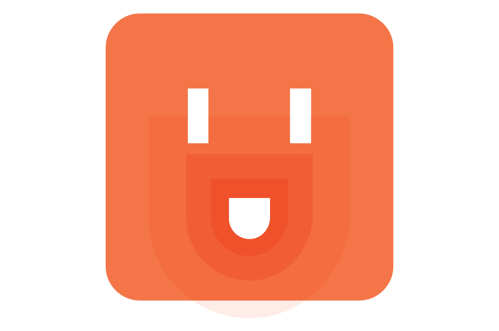 An abstract, smiling power outlet, signifying a positive interaction with an API.