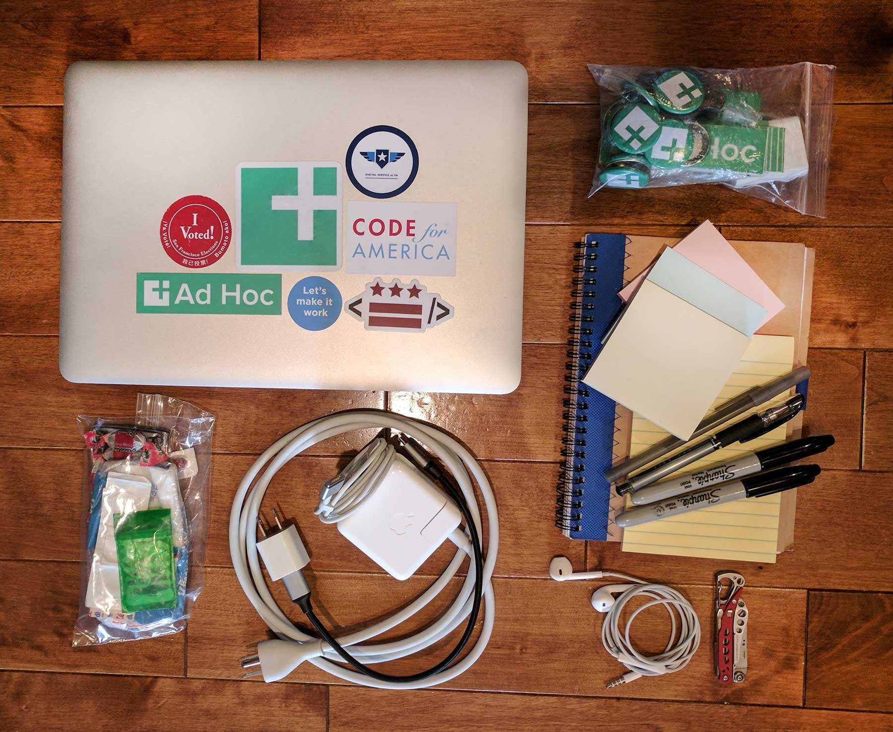 The tools that live in Laura's work bag
