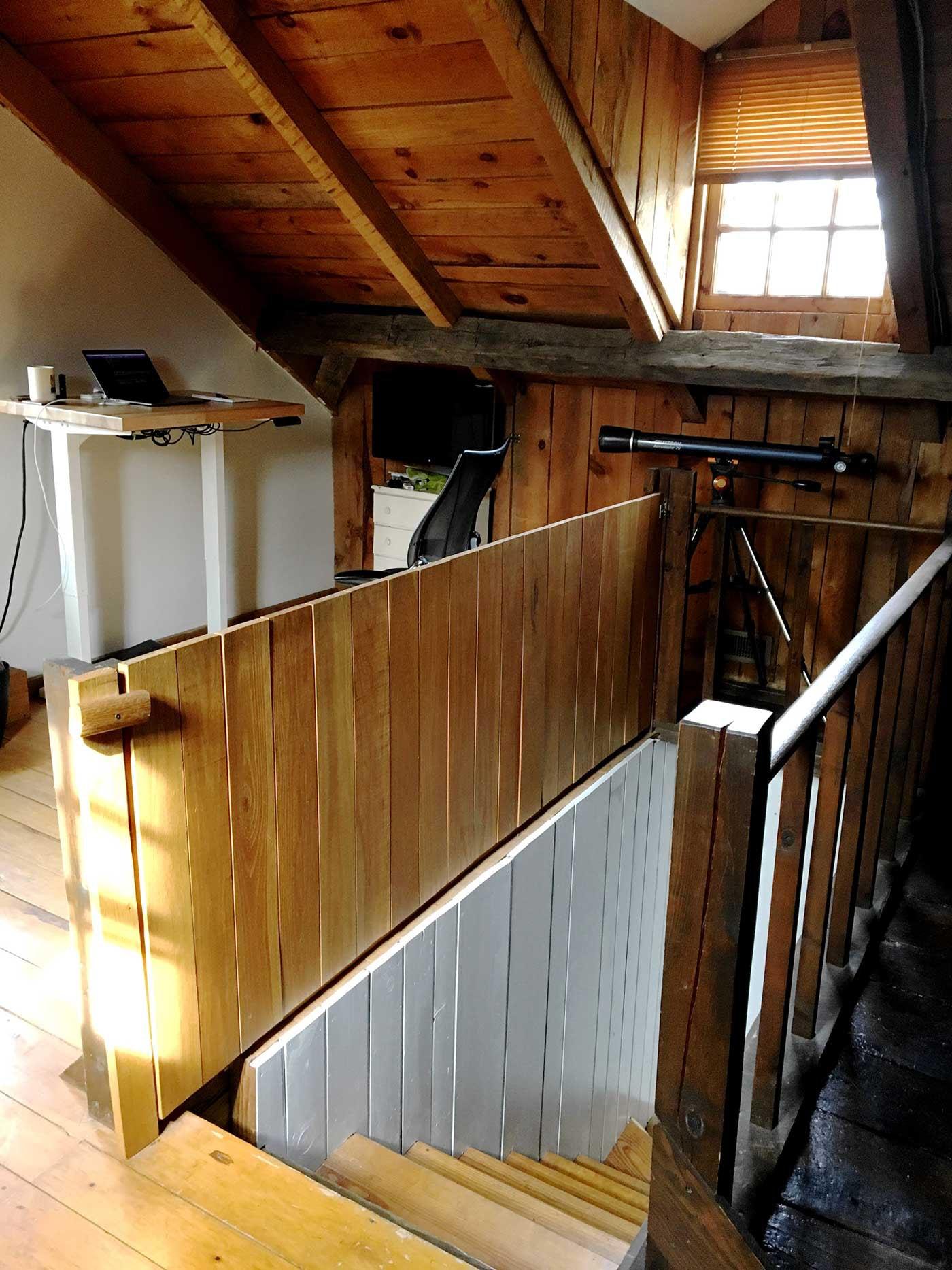 Ben Kutil's attic office